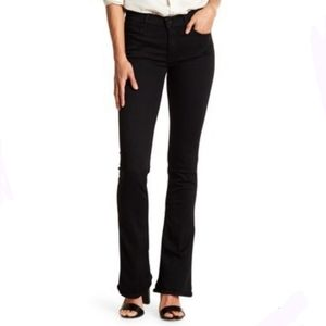 Mother Jeans The Runaway skinny flare black wash